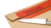Envelopes with label